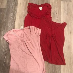 LOFT top bundle in red